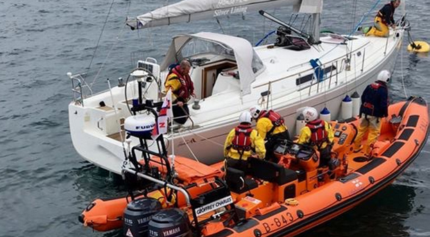 The rescue operation off the coast of Cushendall yesterday