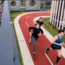 A roof-top running track such as this one in London might be installed in the old Belfast Telegraph building, plans for which have been submitted for approval