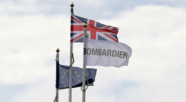 Stockpiling parts to mitigate the impact of a no deal Brexit would cost Bombardier's Belfast business up to £30 million, the plane maker has warned. (Niall Carson/PA)