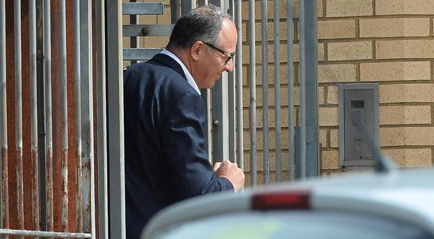 Andrew Marris outside court yesterday