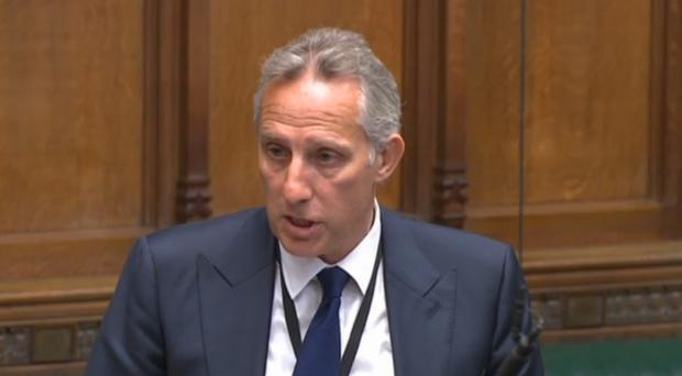 DUP MP Ian Paisley apologising to the House of Commons for failing to register two family holidays funded by the Sri Lankan government (PA)