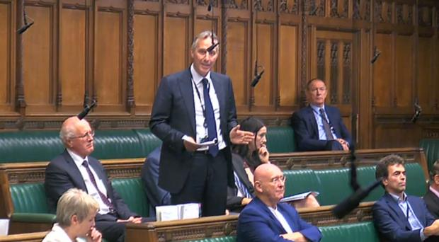 DUP MP Ian Paisley apologising to the House of Commons (PA)