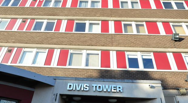 The attack took place near Divis Tower.