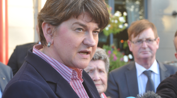 DUP leader Arlene Foster condemned the bonfire.