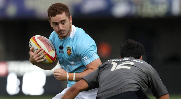 Paddy Jackson in action for Perpignan against Toulouse last night