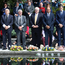 Dignitaries paying tribute to those killed in the Omagh bomb attack / Credit: Kevin Boyes - Press Eye