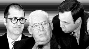 The promotional poster for John McCann's play DUPed