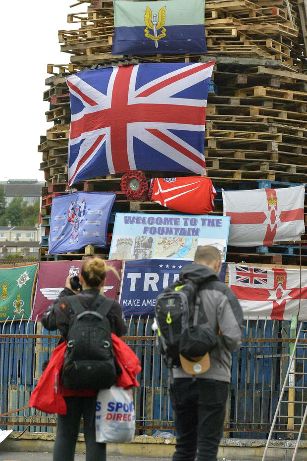 The controversial bonfire in the Bogside in Derry