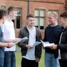 Josh Irwin, John Harrison, Gary Hunt, Adam Catherall and Dominic Clear with their results