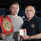 Carl Frampton with former coach Billy McKee