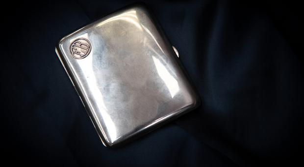 The golden cigarette case which was inscribed with a personalised message