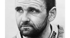 Billy's pencil sketch of the late William Dunlop