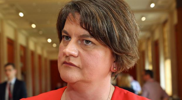 Arlene Foster's Democratic Unionists have been fined by the Electoral Commission (Niall Carson/PA)