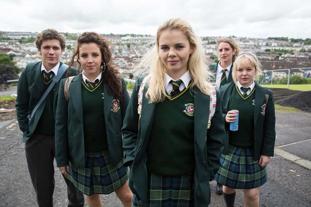 The cast of the hit comedy Derry Girls