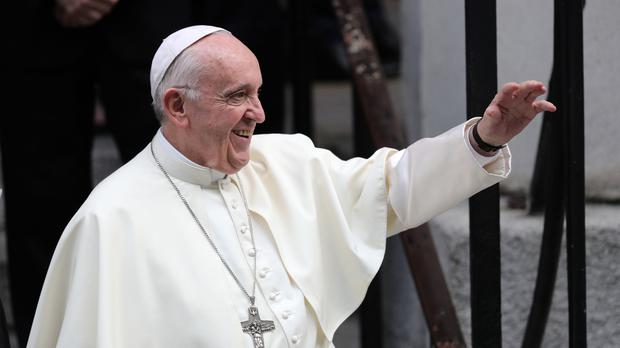 Pope Francis leaves St Mary's Pro Cathedral in Dublin (Aaron Chown/PA)