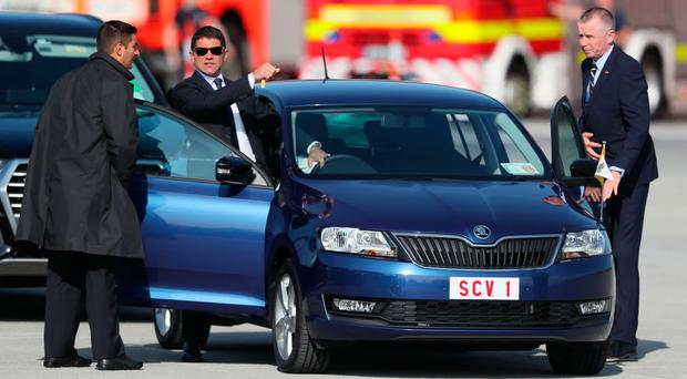 The Skoda that transported Pope Francis as he arrived at Dublin airport