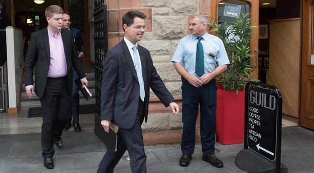 Former Secretary of State James Brokenshire at the Guildhall yesterday