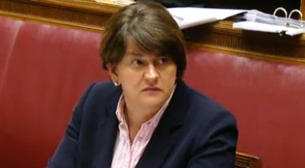 DUP leader Arlene Foster giving evidence at the RHI inquiry