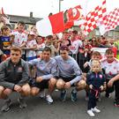 Michelle Gildernew MP was among those who welcomed the Tyrone team in Aughnacloy