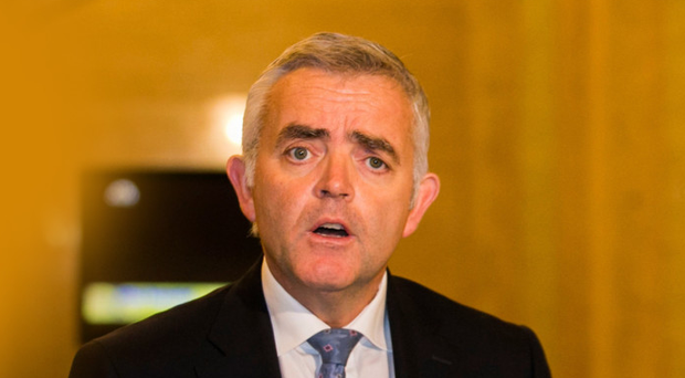 Jonathan Bell at Stormont in 2016 during the fallout from the botched energy scheme