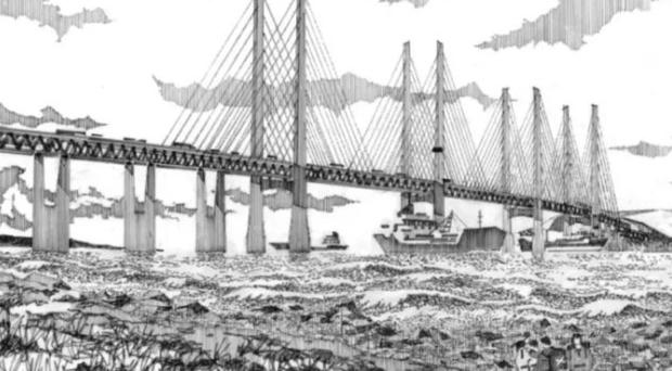 An artist's impression of how the bridge could look