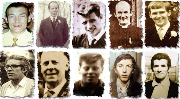 Victims of the Ballymurphy massacre in west Belfast (Ballymurphy Massacre Committee/PA)
