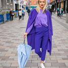 Model Sophie McGibbon gets set for Arthur Street becoming a catwalk this Thursday