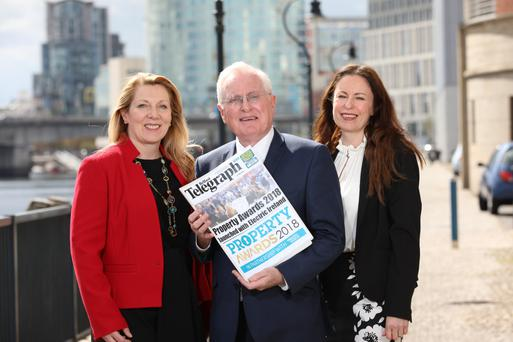From left: Clare McAllister, sales and marketing manager of Electric Ireland; Professor Alastair Adair, deputy vice chancellor, Ulster University, and Gail Walker, editor of the Belfast Telegraph