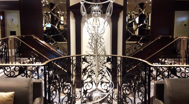 The replica sculpture built for the Azamara Pursuit luxury cruise liner