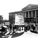 A 1984 protest outside the courthouse by loyalists about the supergrass system