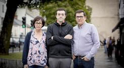 Marie and Michael Cafolla with their son Thomas in Newtownards
