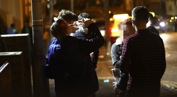 Students drinking in the Holylands.