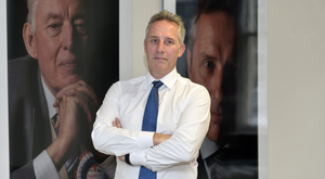 Ian Paisley at his constituency office in Ballymena yesterday