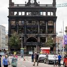The Primark store in Belfast city centre after the fire (Liam McBurney/PA)