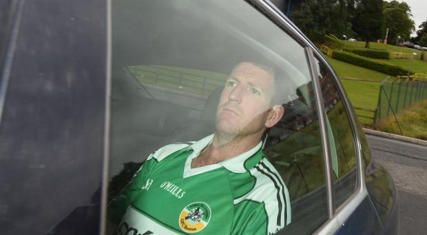 Brian Carron before a previous court appearance in Dungannon.
