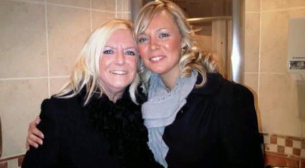 Elizabeth McConway with daughter Martine McCreight