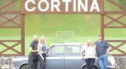The family with their restored 1964 Mark I Ford Cortina