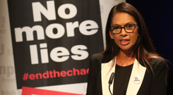 Gina Miller talking about Brexit in Newry yesterday