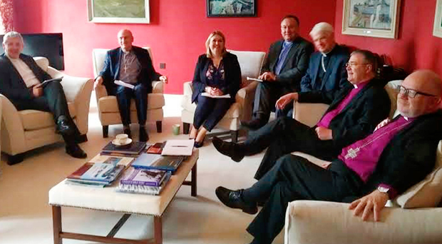 Karen Bradley meets leaders of the main churches yesterday