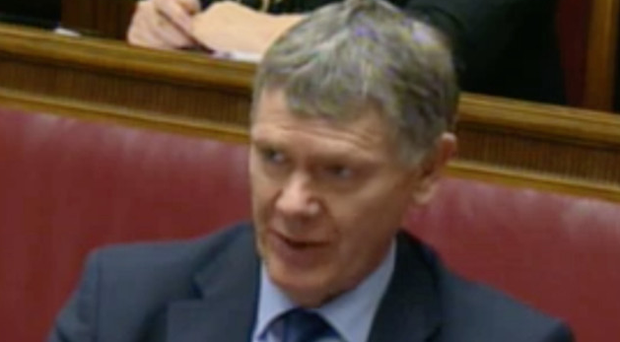 Andrew McCormick giving evidence at the RHI inquiry yesterday