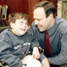 Nigel Dodds with his late son Andrew