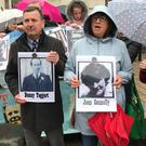 Families of those killed in the Ballymurphy shootings in West Belfast (Rebecca Black/PA)