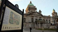 The rally will take place at Belfast City Hall.