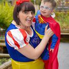 Proud mum Lisa Allen, from Lisburn, and son Aaron will be walking for Mencap NI
