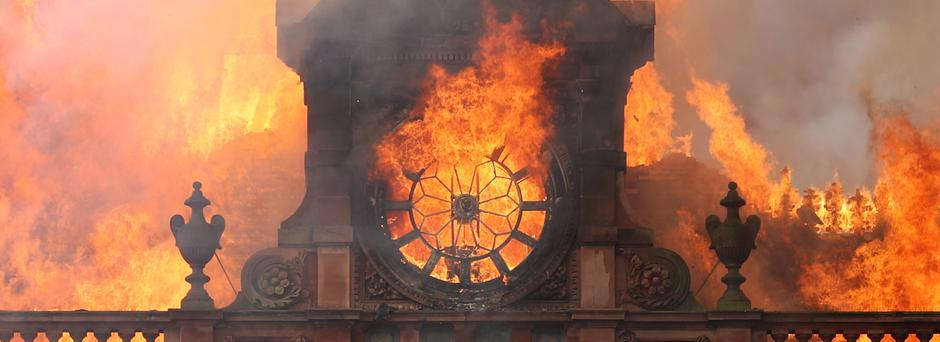 The historic building which housed Primark in Belfast city centre was destroyed in a blaze in August (Liam McBurney/PA)