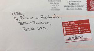 The failure to deliver the letter is being probed by Royal Mail