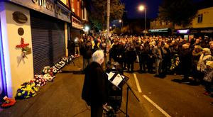 The memorial march in Belfast to mark the 25th anniversary of the atrocity in which nine innocent people were killed by an IRA bomb