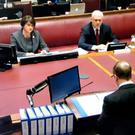 DUP leader Arlene Foster gives evidence to the inquiry