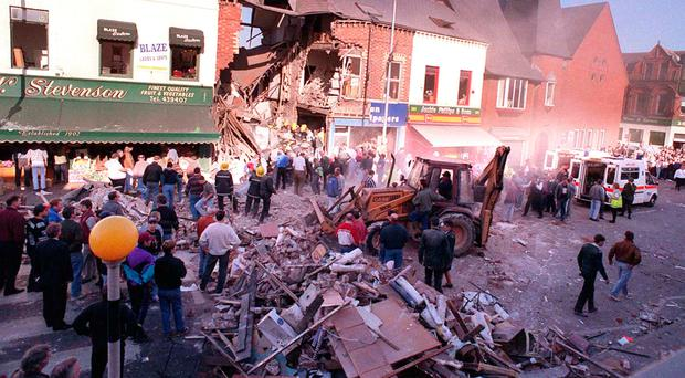The aftermath of the Shankill bombing