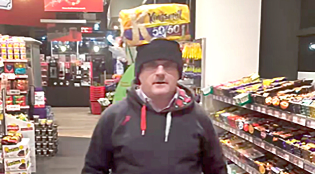 Barry McElduff with Kingsmill loaf on his head